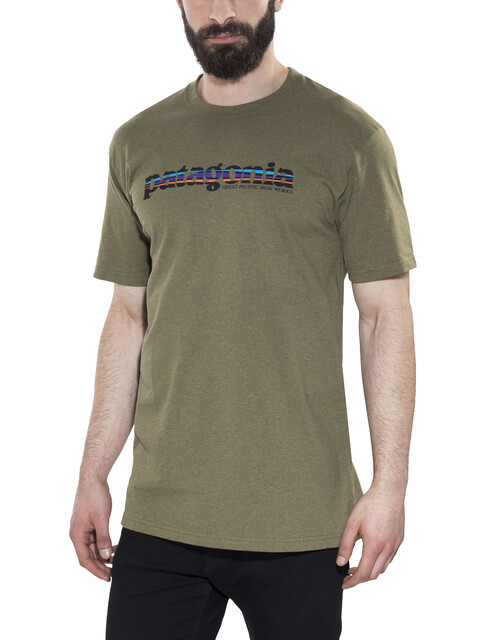 Patagonia 73 Text Logo - T-shirt manches courtes Homme - olive
